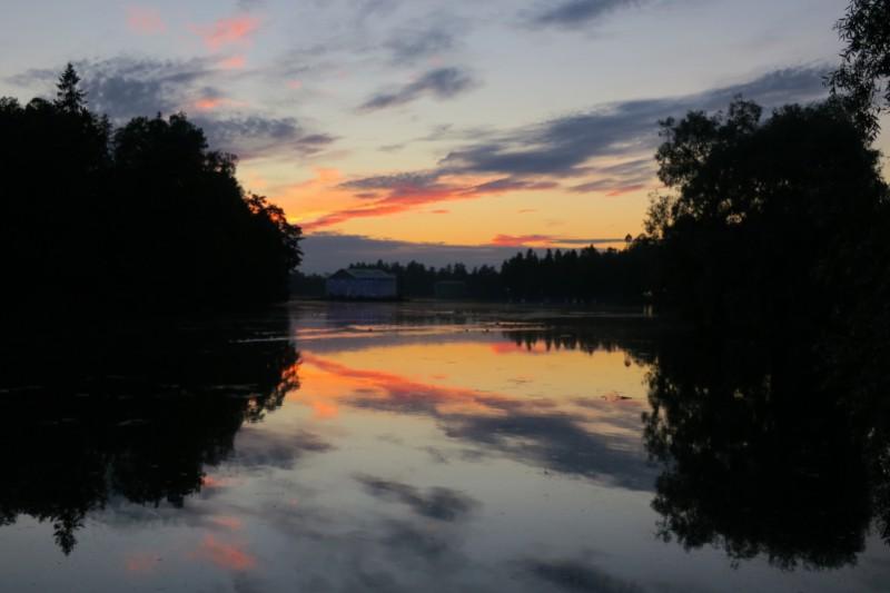 Закат в Гатчинском парке